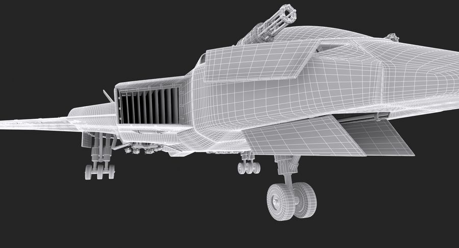 Aircraft  - Space Fighter royalty-free 3d model - Preview no. 25
