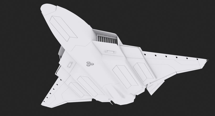 Aircraft  - Space Fighter royalty-free 3d model - Preview no. 6