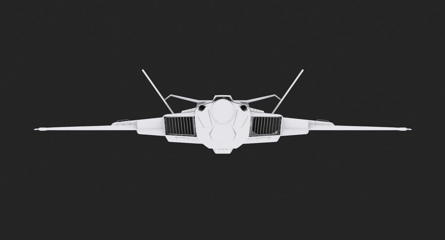 Aircraft  - Space Fighter royalty-free 3d model - Preview no. 16