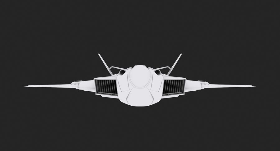 Aircraft  - Space Fighter royalty-free 3d model - Preview no. 8