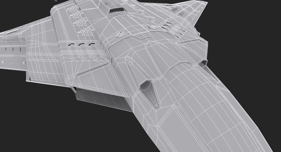 Aircraft  - Space Fighter royalty-free 3d model - Preview no. 20