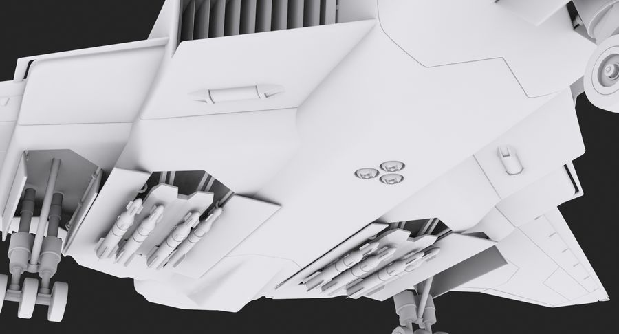 Aircraft  - Space Fighter royalty-free 3d model - Preview no. 12