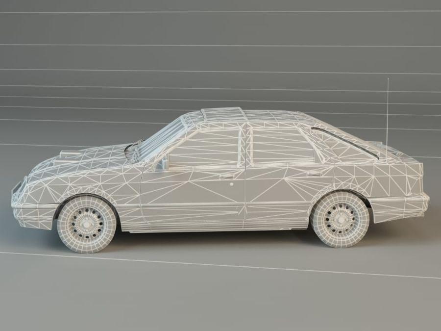 Niebieski samochód royalty-free 3d model - Preview no. 6