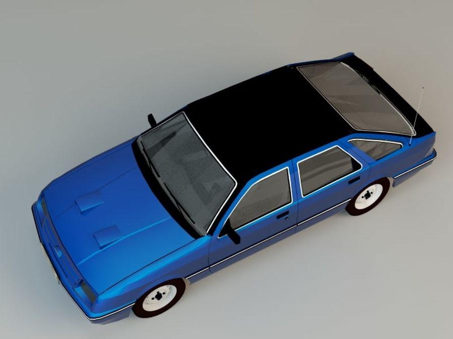 Niebieski samochód royalty-free 3d model - Preview no. 4