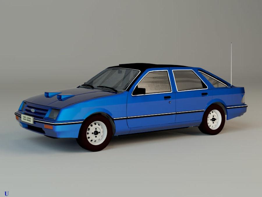Niebieski samochód royalty-free 3d model - Preview no. 1