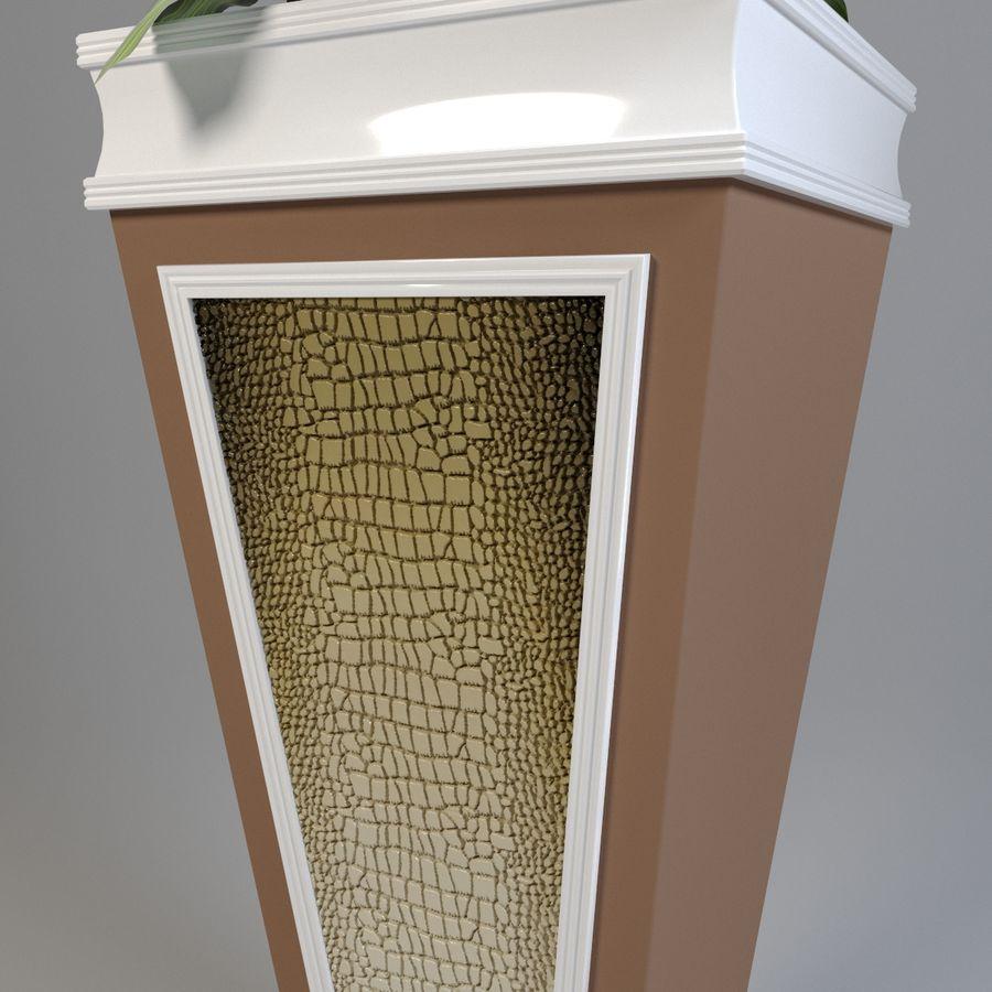 花盆与植物 royalty-free 3d model - Preview no. 3