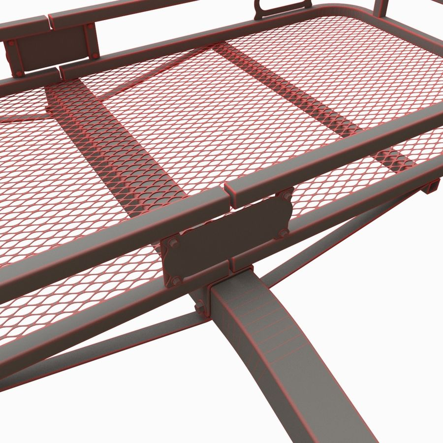 Car Cargo Basket royalty-free 3d model - Preview no. 8