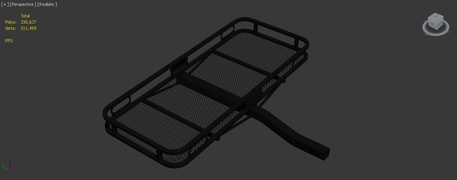 Car Cargo Basket royalty-free 3d model - Preview no. 12