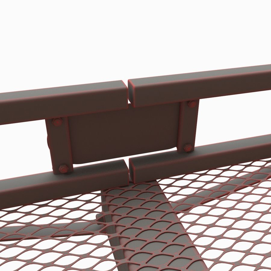 Car Cargo Basket royalty-free 3d model - Preview no. 9