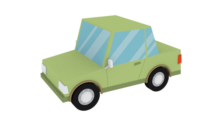 Cartoon cars royalty-free 3d model - Preview no. 10