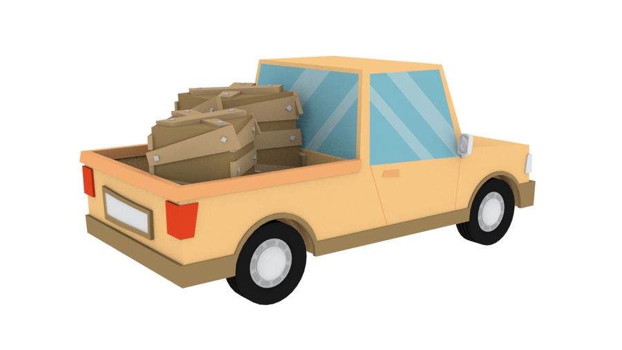 Cartoon cars royalty-free 3d model - Preview no. 19