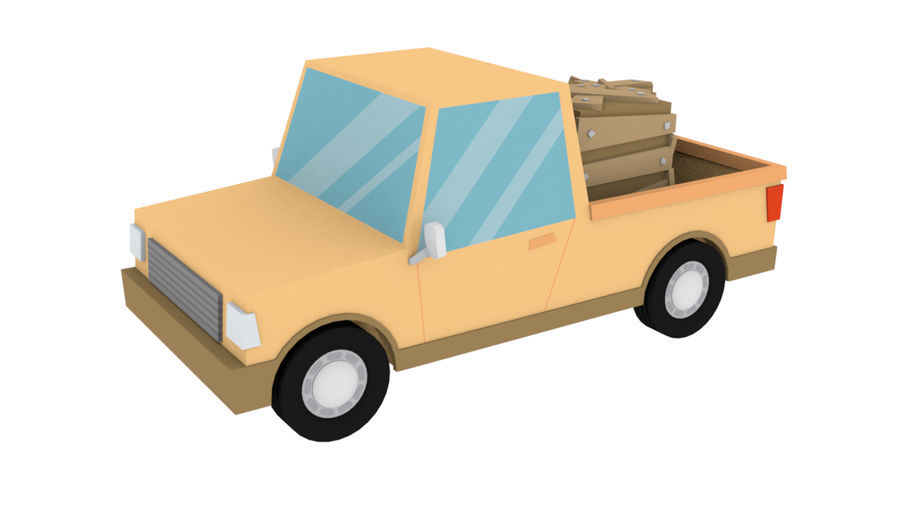 Cartoon cars royalty-free 3d model - Preview no. 9
