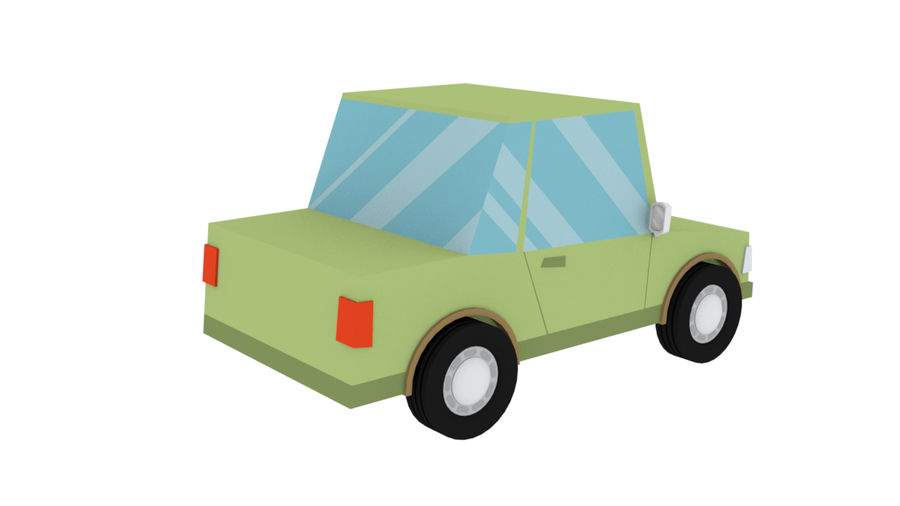 Cartoon cars royalty-free 3d model - Preview no. 18
