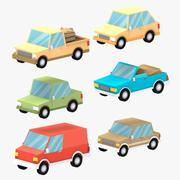 Cartoon cars 3d model