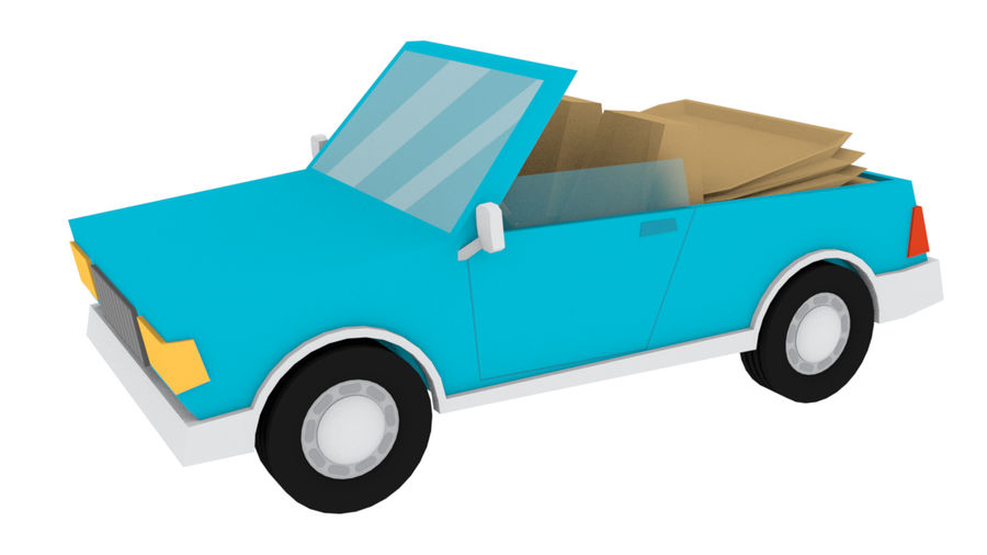 Cartoon cars royalty-free 3d model - Preview no. 14