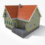 Lowpoly East Europe House 5 3d model