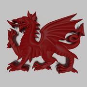 Heraldyczny Walijski Smok 3d model