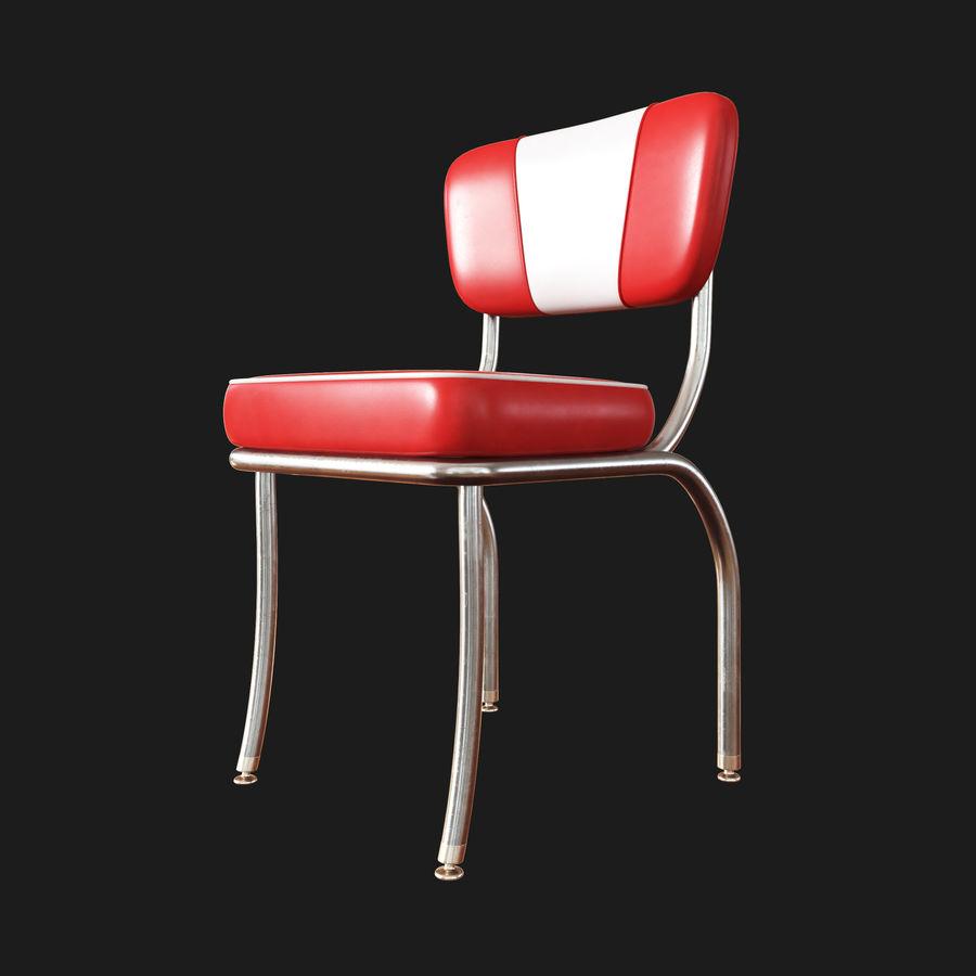 Cadeira Retro Diner 50s Modelo 3d 10 Unknown Obj Fbx Max Free3d