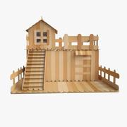 Sticks House 3d model