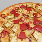 Pizza na patelni 3d model