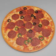 意大利辣香肠比萨饼 3d model
