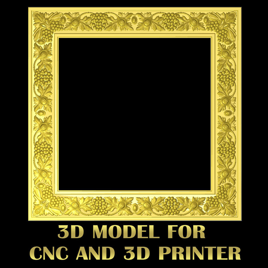 11 Pcs 3D STL Model FRAMES of GRAPE PATTERN for CNC Router Engraver 3D Printer