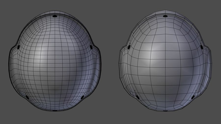 Assault helmet royalty-free 3d model - Preview no. 14