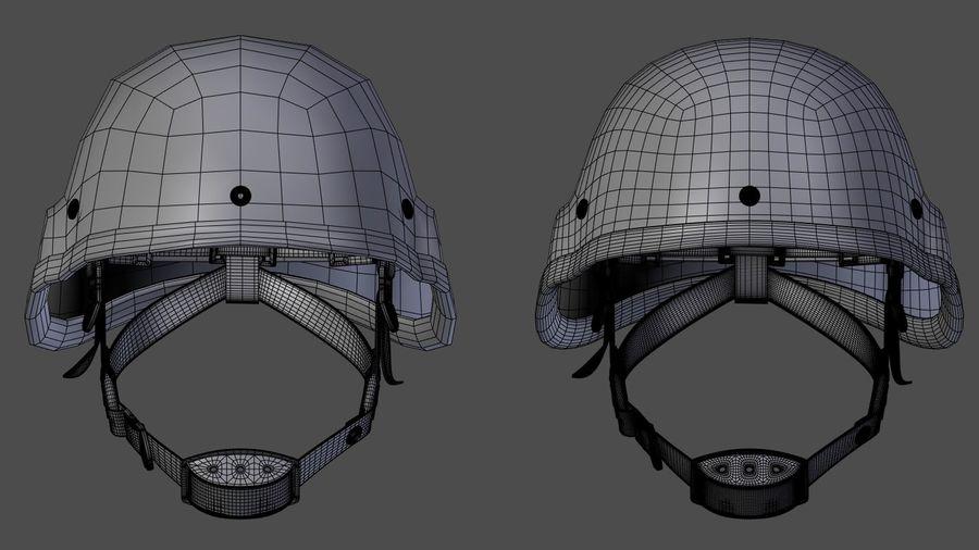 Assault helmet royalty-free 3d model - Preview no. 7