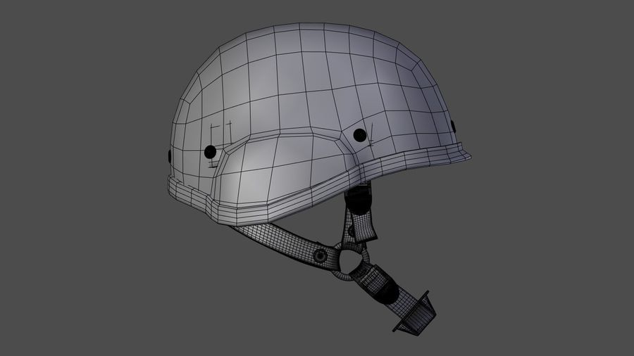 Assault helmet royalty-free 3d model - Preview no. 10