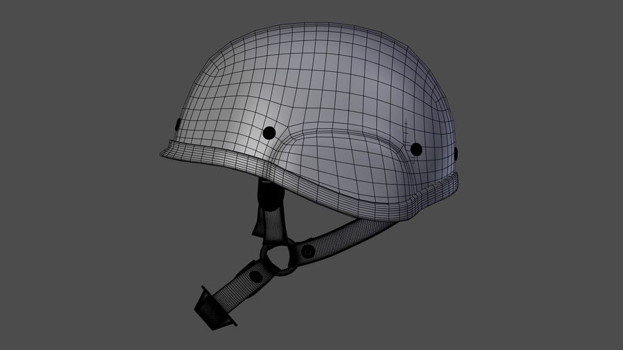 Saldırı kask royalty-free 3d model - Preview no. 9