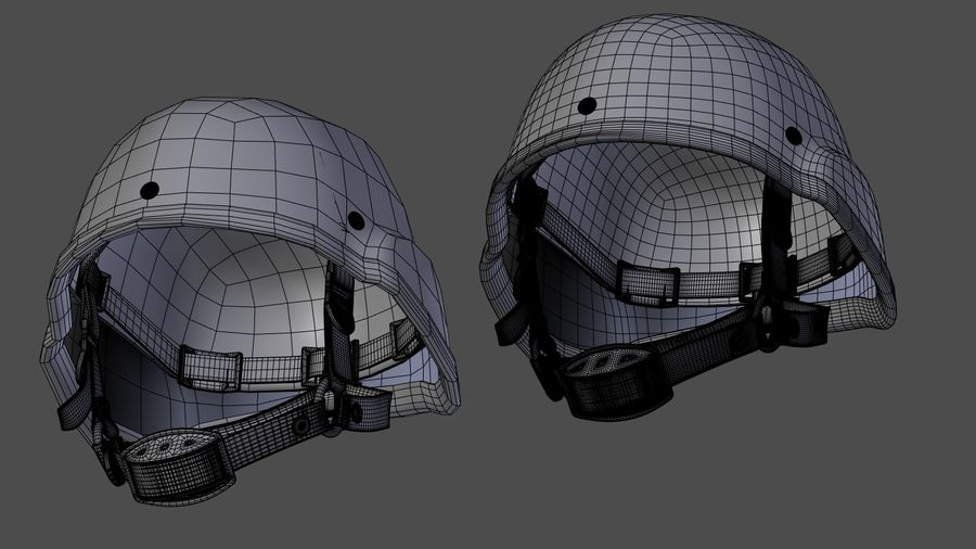 Saldırı kask royalty-free 3d model - Preview no. 11