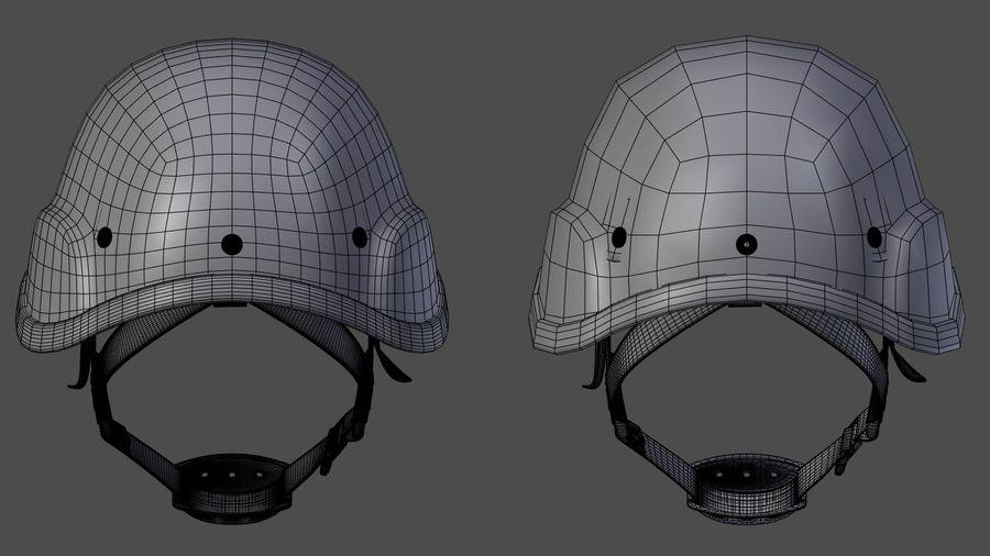 Assault helmet royalty-free 3d model - Preview no. 8