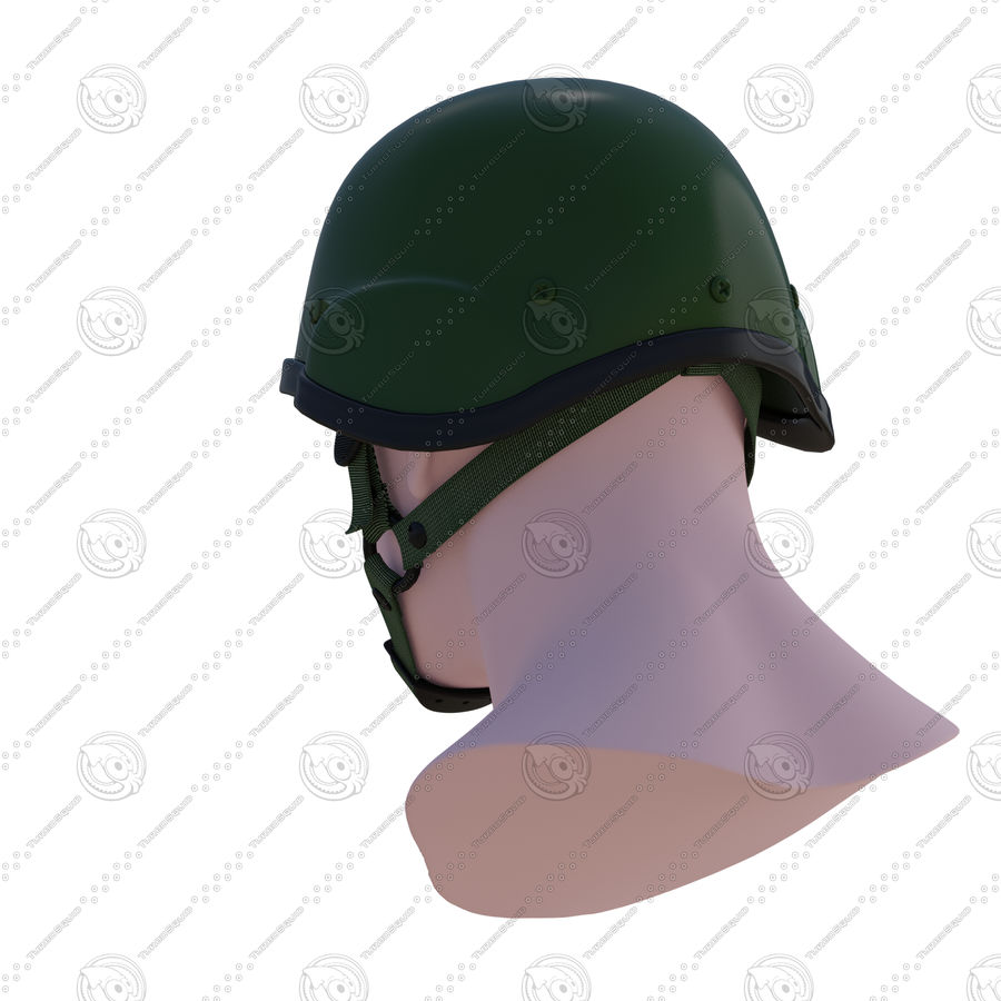 Assault helmet royalty-free 3d model - Preview no. 4