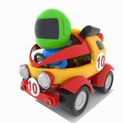 Toon Racing Car 3d model