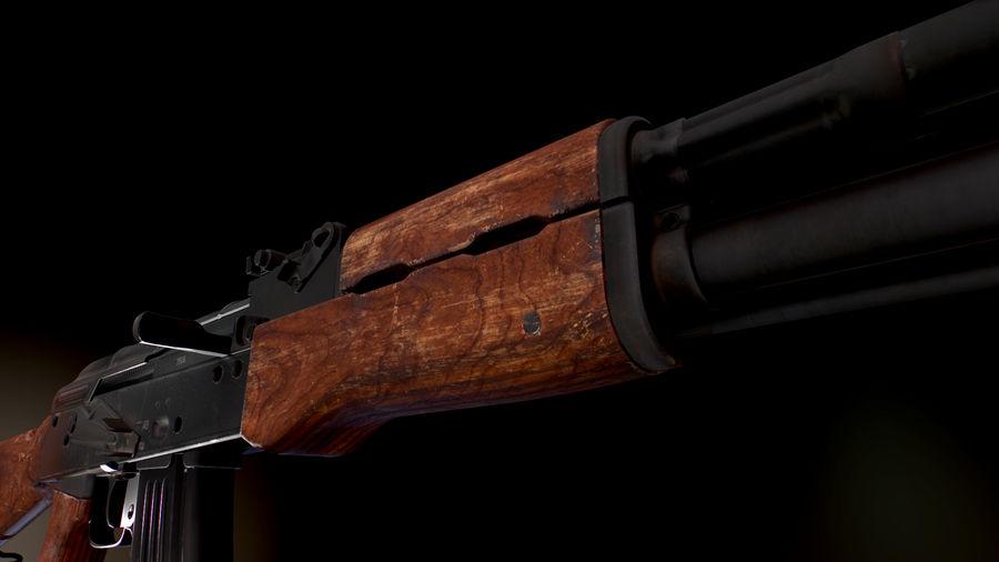 AK 47 1970 royalty-free 3d model - Preview no. 7