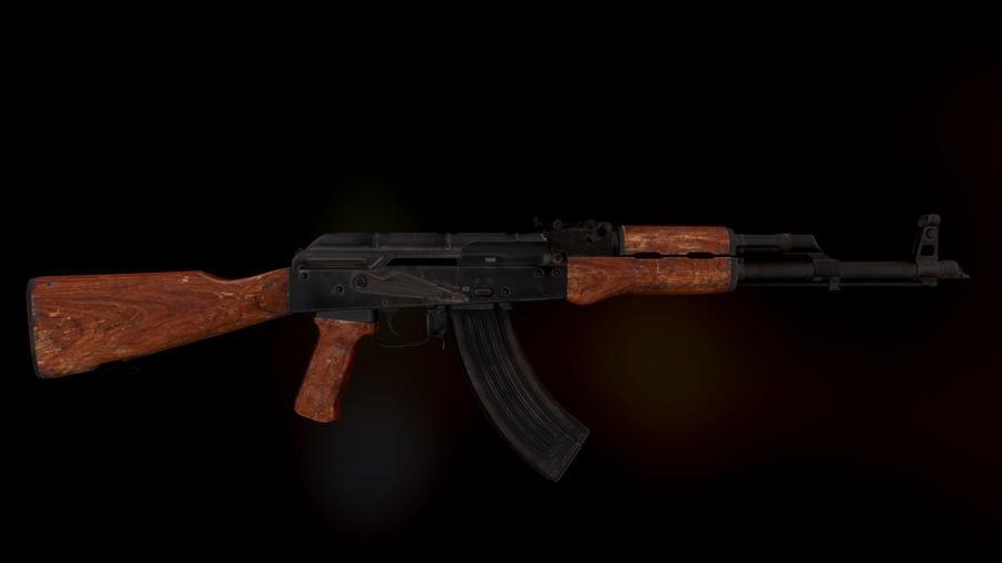 AK 47 1970 royalty-free 3d model - Preview no. 3