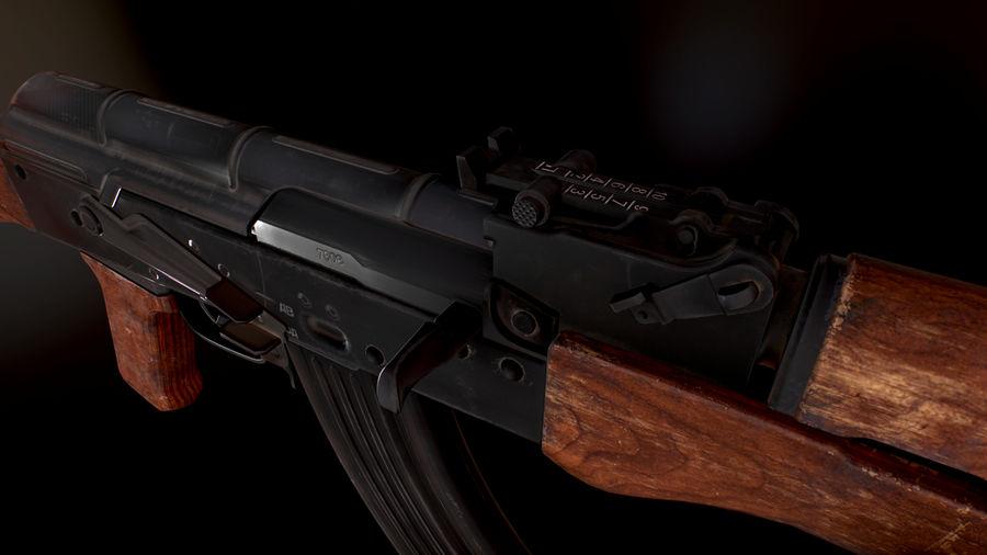 AK 47 1970 royalty-free 3d model - Preview no. 5