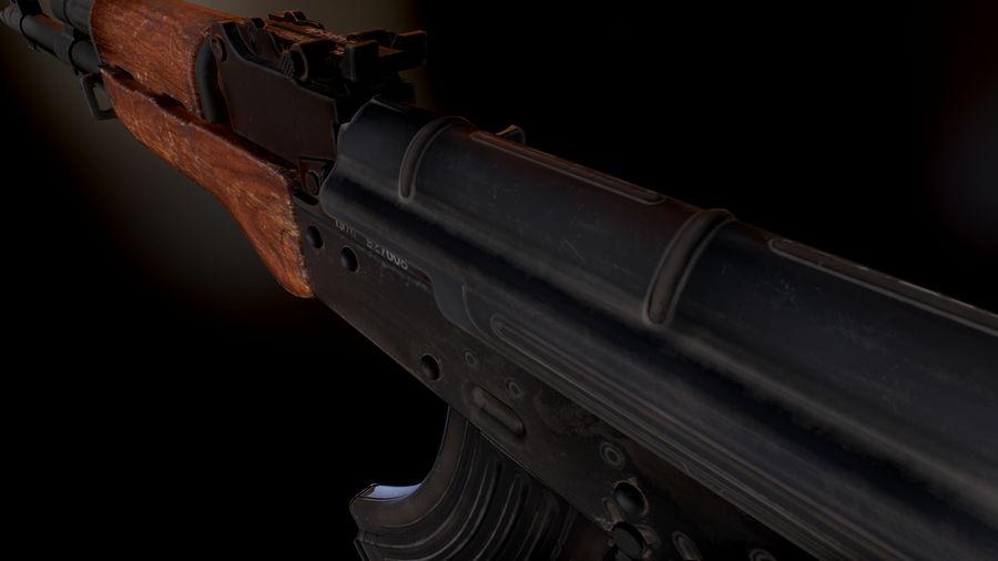 AK 47 1970 royalty-free 3d model - Preview no. 9