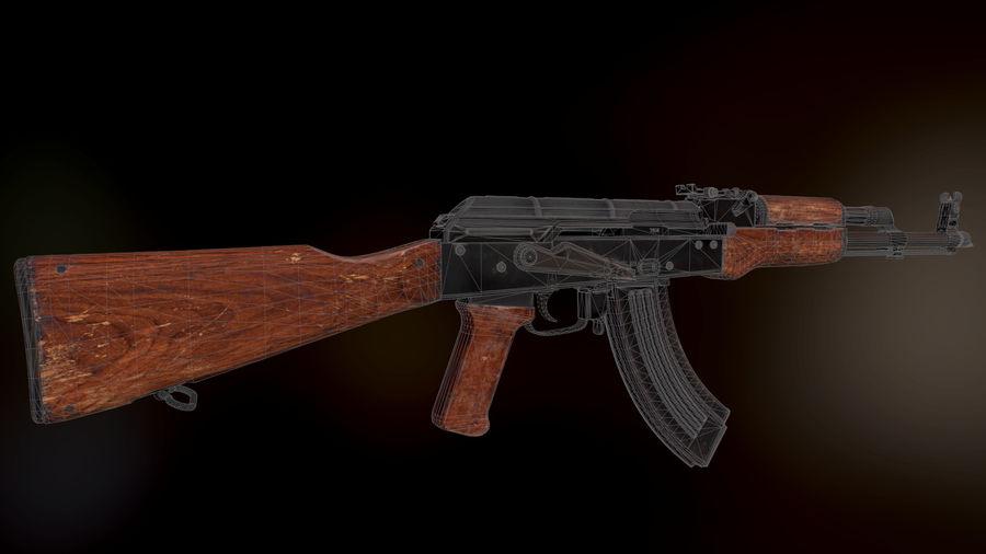 AK 47 1970 royalty-free 3d model - Preview no. 2