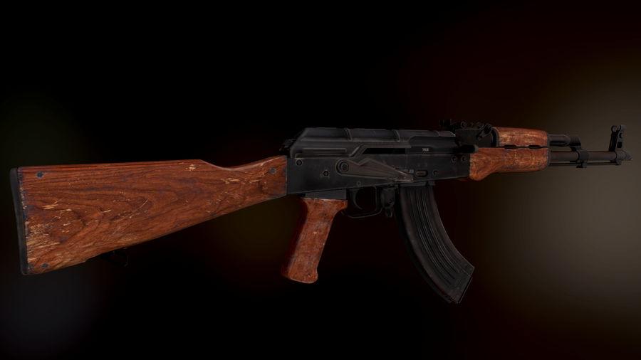 AK 47 1970 royalty-free 3d model - Preview no. 1