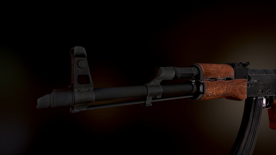 AK 47 1970 royalty-free 3d model - Preview no. 8