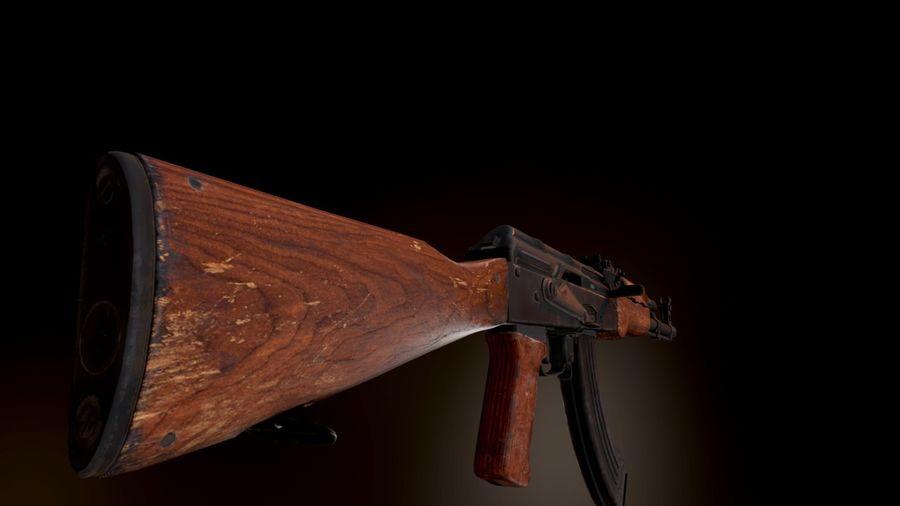 AK 47 1970 royalty-free 3d model - Preview no. 12