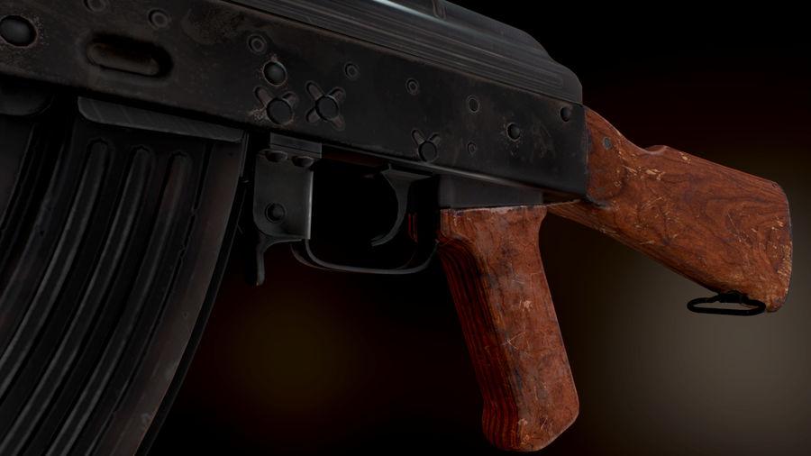 AK 47 1970 royalty-free 3d model - Preview no. 10