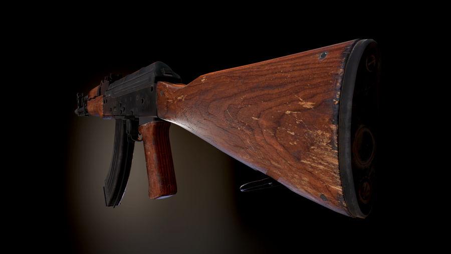 AK 47 1970 royalty-free 3d model - Preview no. 11
