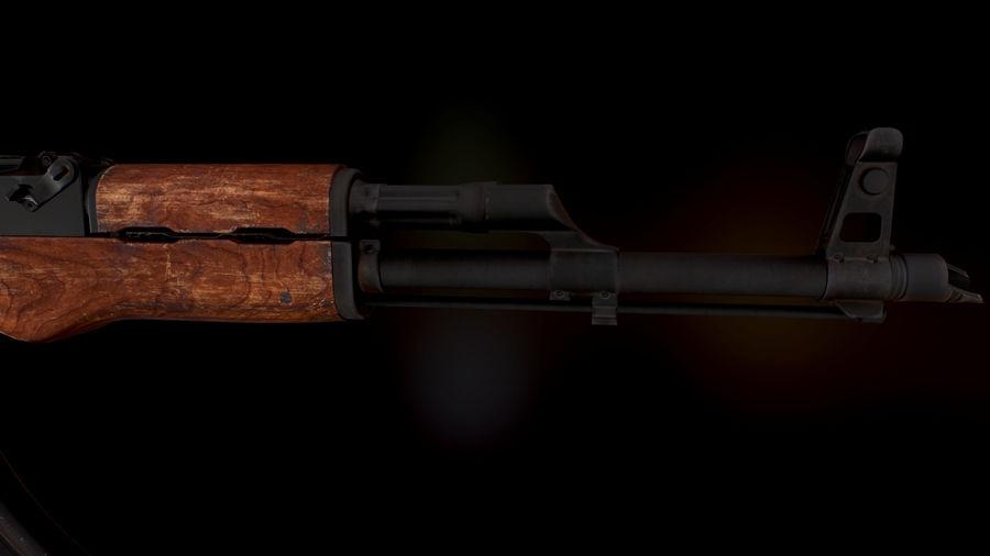 AK 47 1970 royalty-free 3d model - Preview no. 6