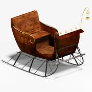 Rustic Sleigh 3d model