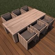 Diner table 1 3d model