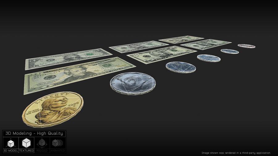 Waluta USA royalty-free 3d model - Preview no. 5