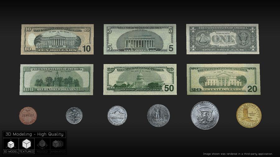 Waluta USA royalty-free 3d model - Preview no. 2
