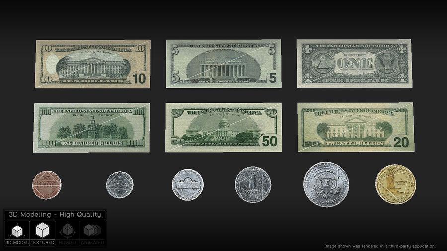 Waluta USA royalty-free 3d model - Preview no. 3